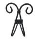 ロートアイアン(アイアン飾り・アイアンパーツ・ハンガー・装飾・ハンガーフック・洋服掛け・帽子掛け・フック・飾り・アンティーク風) INK-ihangerD