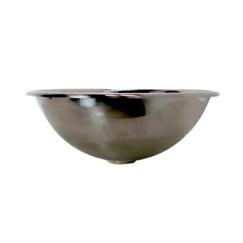 洗面ボウル ステンレス おしゃれ 埋め込み型 銀 シルバー オーバーフロー無し W410×D410×H155 | 品番INK-0408006H(stl39)