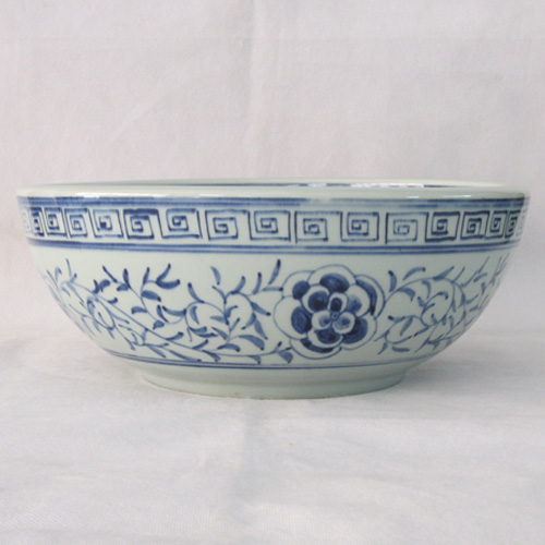 洗面ボウル 陶器 和柄 景徳鎮 手洗い鉢 置き型 オーバーフロー無し W325×D325×H150 | 品番INK-0403039H