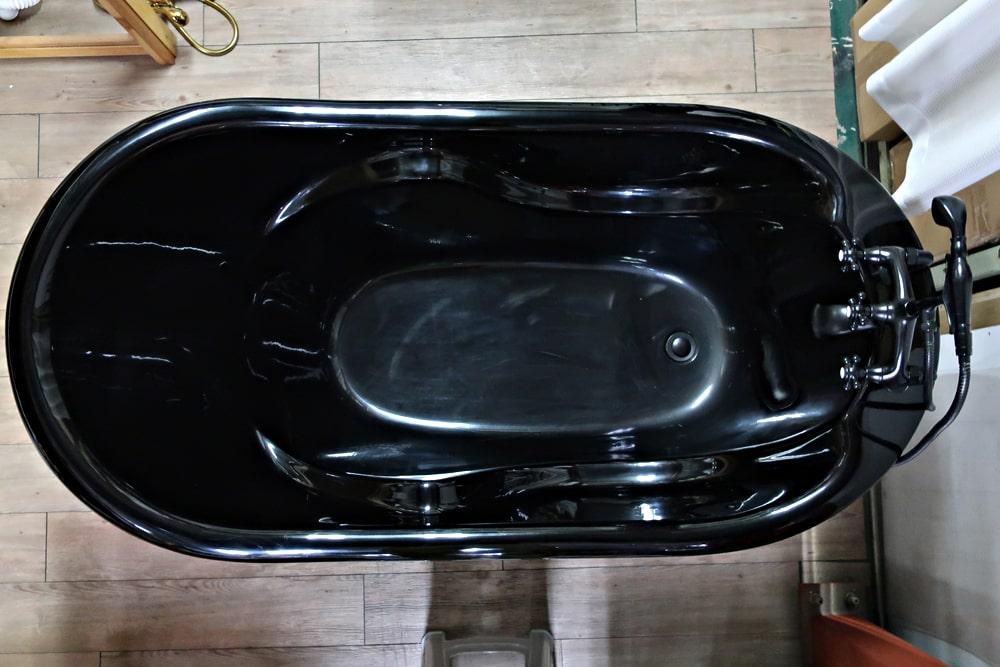 【限定1台】猫足バスタブ 置き型 浴槽 ディプレイ用 アウトレット W1700×D880×H880 | 品番INK-ART003-bk