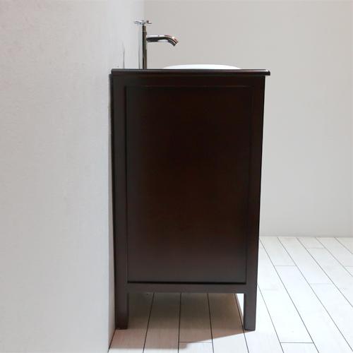 【Eセット31】洗面化粧台セット(洗面台・化粧台・木製・カントリー調) ブラウン INK-0501031Hset