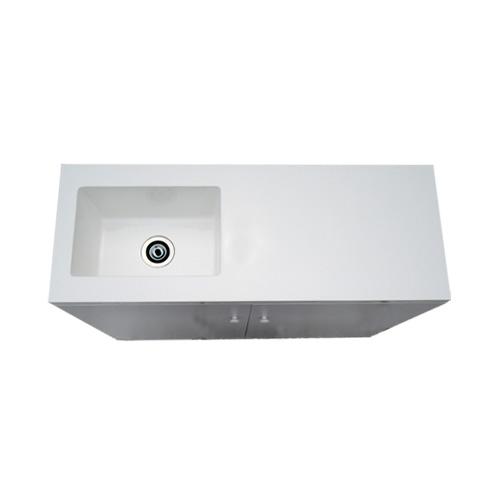 キッチン 洗面化粧台 人工大理石 オーバーフロー無し 白 ホワイト  W1200×D455×H770   品番INK-0501050H