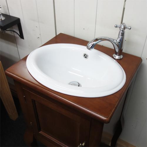 【Eセット28】洗面化粧台セット(洗面台・化粧台・木製・カントリー調) ブラウン INK-0501025Hset