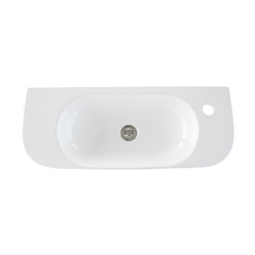 洗面ボウル 陶器 壁付け型 置き型(オンカウンターシンク) オーバーフロー無し W710×D270×H120 | 品番INK-0402047H