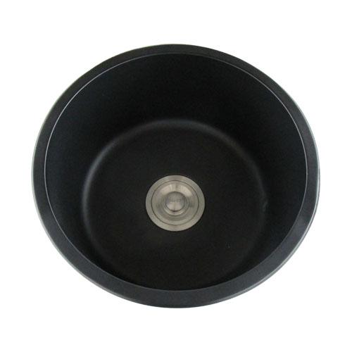 洗面ボウル ステンレス キッチン シンク おしゃれ 埋め込み 黒 ブラック オーバーフロー無し W400×D400×H220 | 品番INK-0408002H