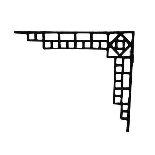 棚受け ブラケット アイアン アイアン飾り おしゃれ 1個単品 W35×D215×H185 | 品番INK-1401343H