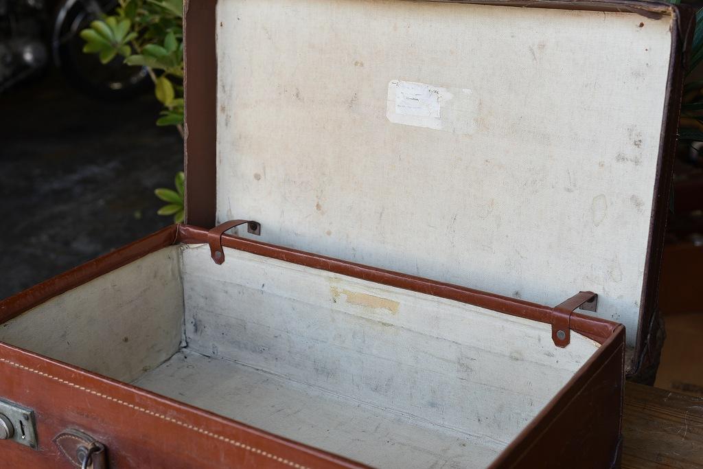 103662 ヴィンテージ レザー トランクケース 皮革製  英国製