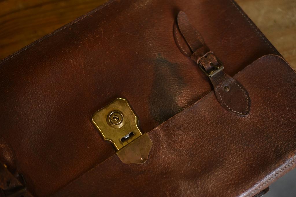 103917 ヴィンテージ レザーブリーフケース バッグ 革鞄