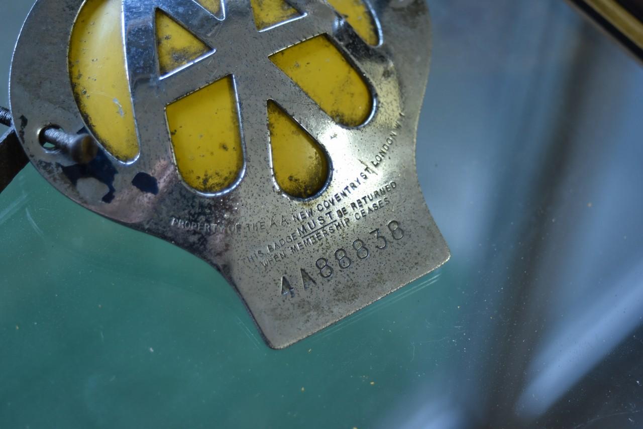 UK ヴィンテージ AA Automobile Association カーバッチ 101399