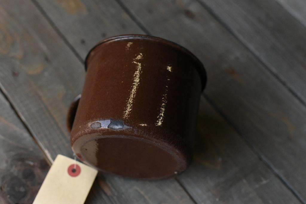 103834 ヴィンテージ ホーロー製 ミルクパン ビックマグカップ MADE IN ENGLAND 英国