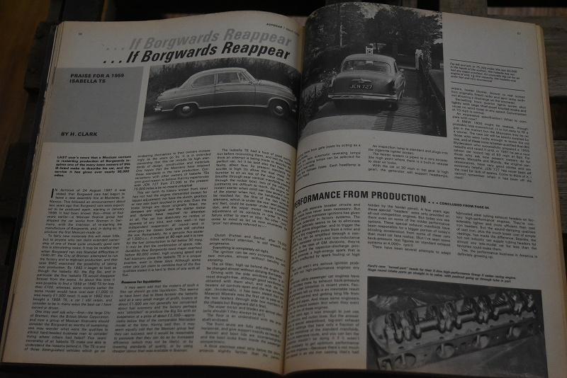 B0069 「AUTO CAR」 ヴィンテージバイク 英国車 古本 1960年代雑誌 ヴィンテージ