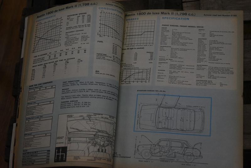 B0070 「AUTO CAR」 ヴィンテージバイク 英国車 古本 1960年代雑誌 ヴィンテージ