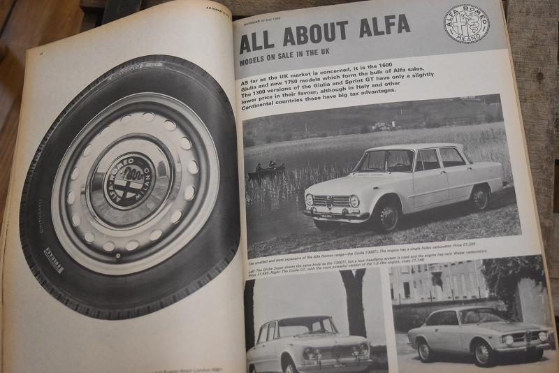 B0073 「AUTO CAR」 ヴィンテージバイク 英国車 古本 1960年代雑誌 ヴィンテージ