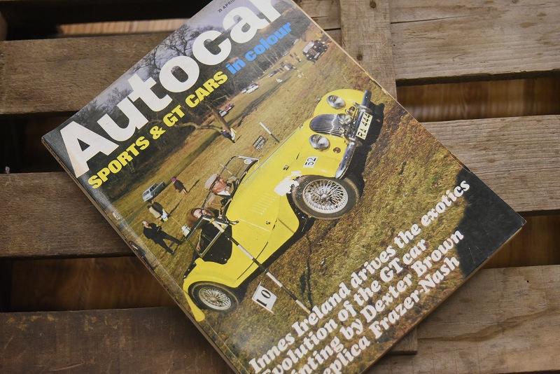 B0074 「AUTO CAR」 ヴィンテージバイク 英国車 古本 1960年代雑誌 ヴィンテージ