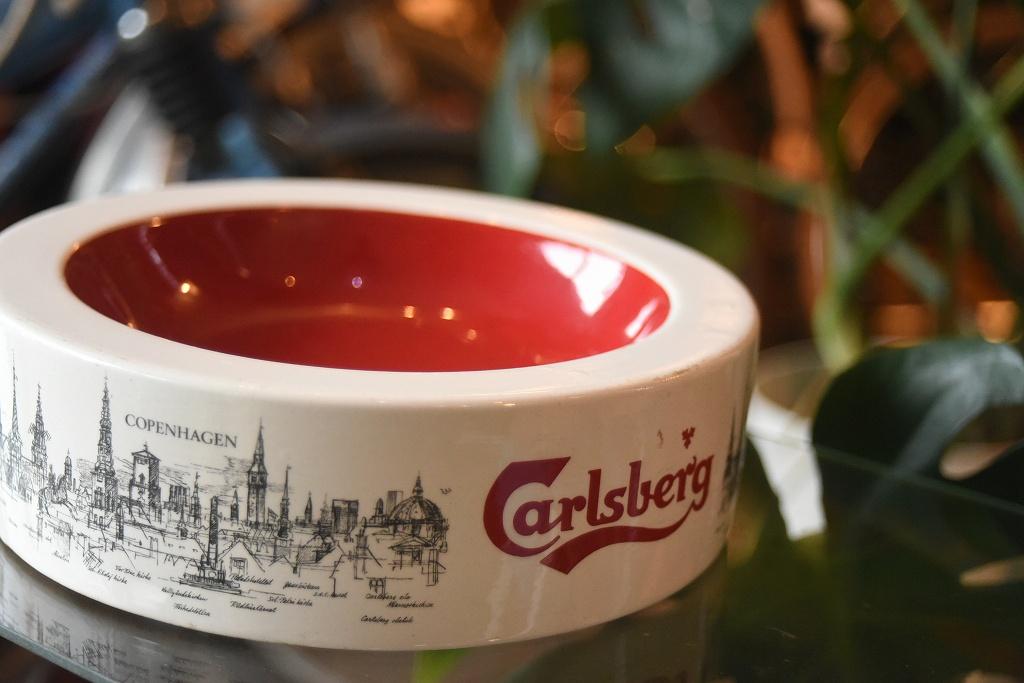 100802 アッシュトレイ カールスバーグ 「Carlsberg」 灰皿 ENGLAND HENRY W.KING & CO.LTD