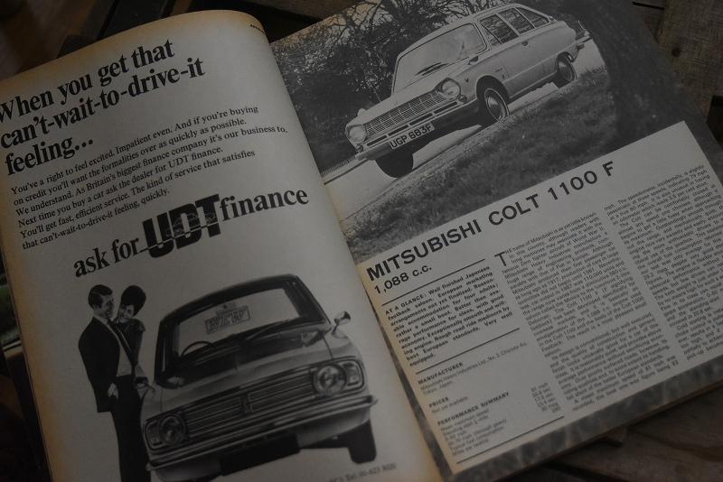 B0075 「AUTO CAR」 ヴィンテージバイク 英国車 古本 1960年代雑誌 ヴィンテージ