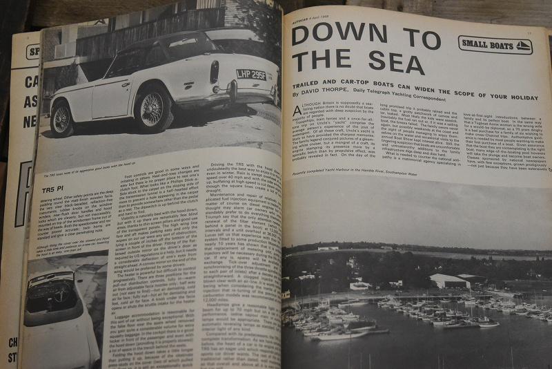 B0077 「AUTO CAR」 ヴィンテージバイク 英国車 古本 1960年代雑誌 ヴィンテージ