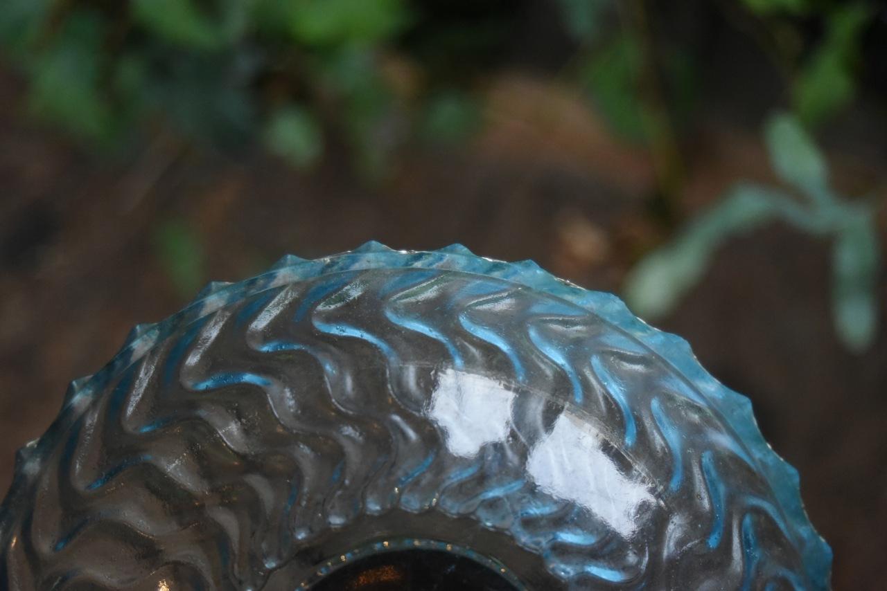 102487 ヴィンテージ 英国 ガラス ボール UK刻印