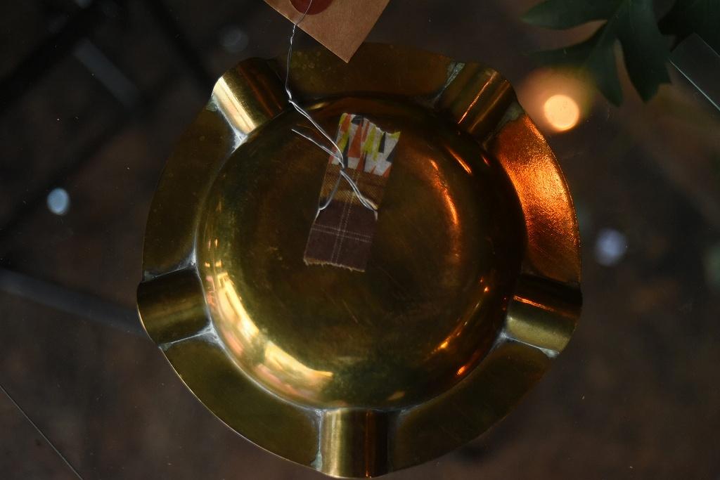 103341 UK ヴィンテージ ブラスアッシュトレイ 真鍮 灰皿