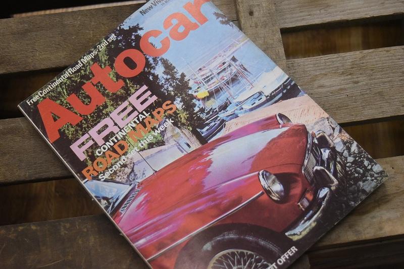 B0079 「AUTO CAR」 ヴィンテージバイク 英国車 古本 1960年代雑誌 ヴィンテージ