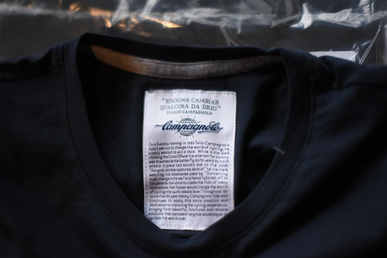 ネイビー S 国内未発売 カンパニョーロ  クラシック Tシャツ CAMPAGNOLO