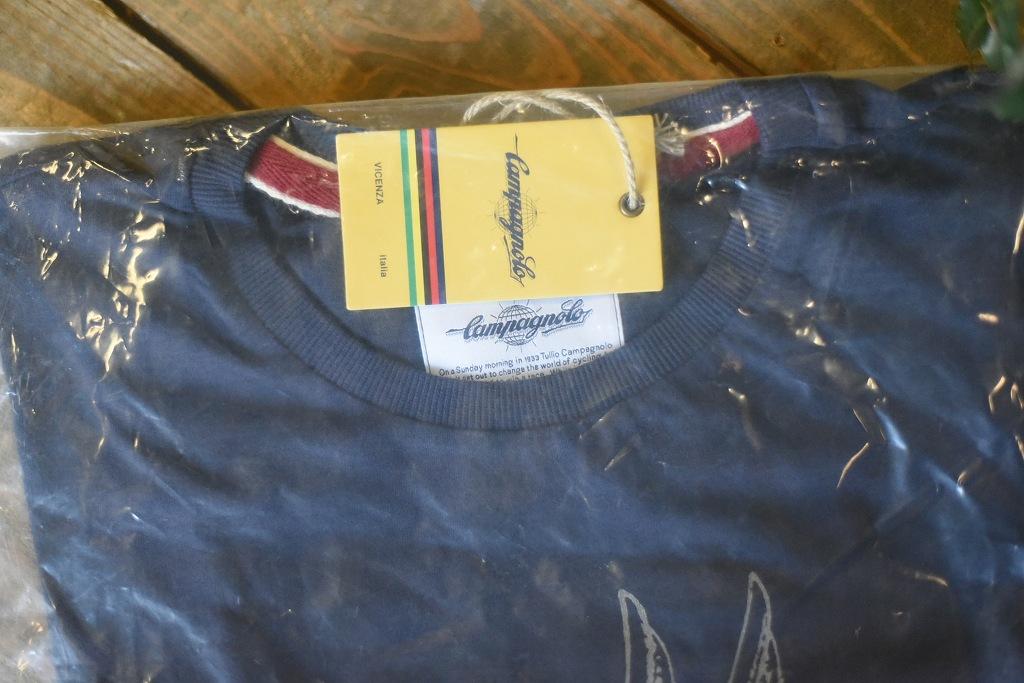 ネイビー M 国内未発売 カンパニョーロ  クラシック Tシャツ CAMPAGNOLO