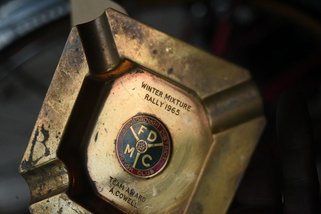 103342 UK ヴィンテージ 「WINTER MIXTURE RALLY 1965」 ブラスアッシュトレイ 真鍮 灰皿