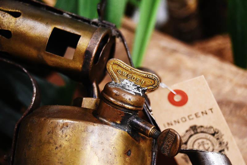 105285 「OPTIMUS」 オプティマス No.411 UPPL VASBY ブラス トーチ バーナー ブロートーチ コンロ キャンプ 真鍮 MADE IN SWEDEN