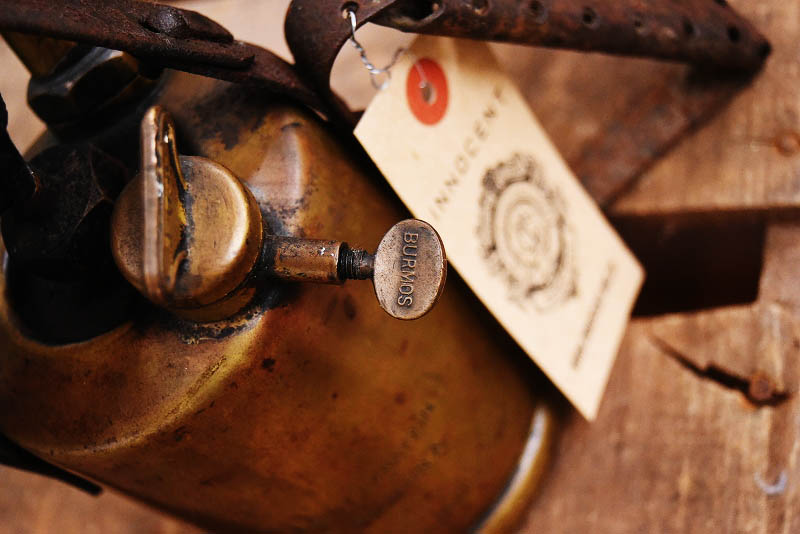 105284 「BURMOS」 ブラス トーチ バーナー ブロートーチ コンロ キャンプ 真鍮 MADE IN ENGLAND