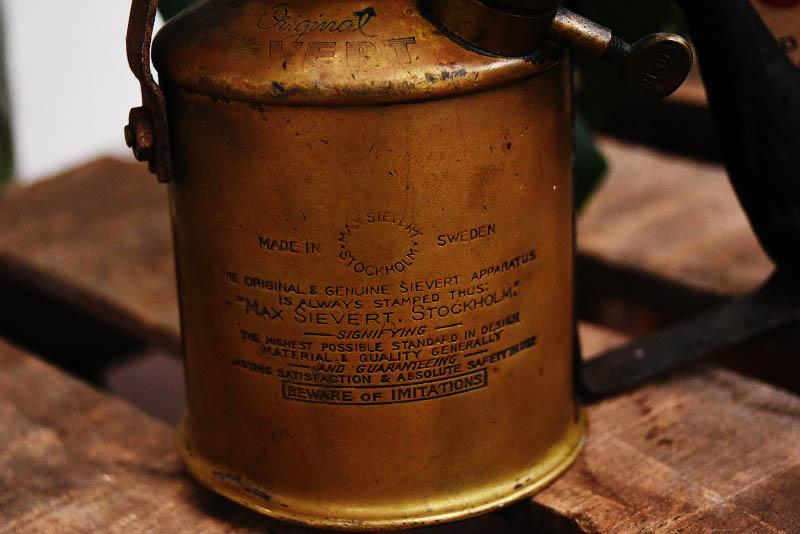 105283 「MAX SIEVERT」 マックス シーベルト STOCKHOLM ブラス トーチ バーナー ブロートーチ コンロ キャンプ 真鍮 MADE IN SWEDEN