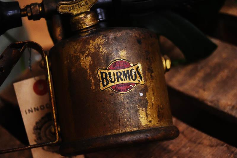 105300 「BURMOS」 BRITISH MADE IN ENGLAND ブラス トーチ バーナー ブロートーチ コンロ キャンプ 真鍮