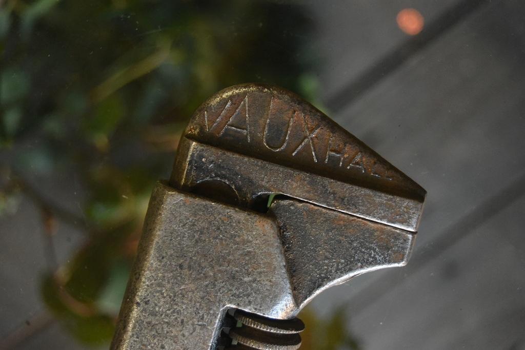 104338 UK ヴィンテージ VAUXHALL パイプレンチ ツール 英国 MADE IN ENGLAND