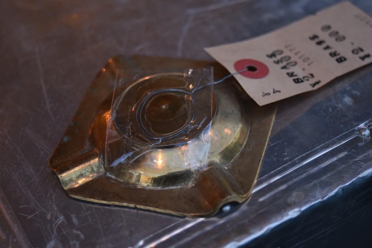 真鍮 ブラス アッシュトレイ 灰皿 英国 101177