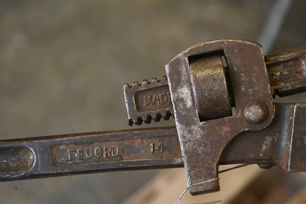 104339 UK ヴィンテージ パイプレンチ ツール 英国 MADE IN ENGLAND