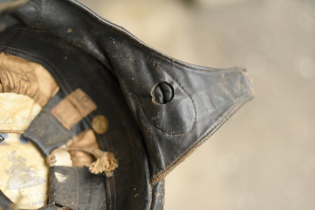 103799 「CASQUES RF」 ヴィンテージ ハーフヘルメット お椀ヘルUK MADE in ENGLAND ヘルメット