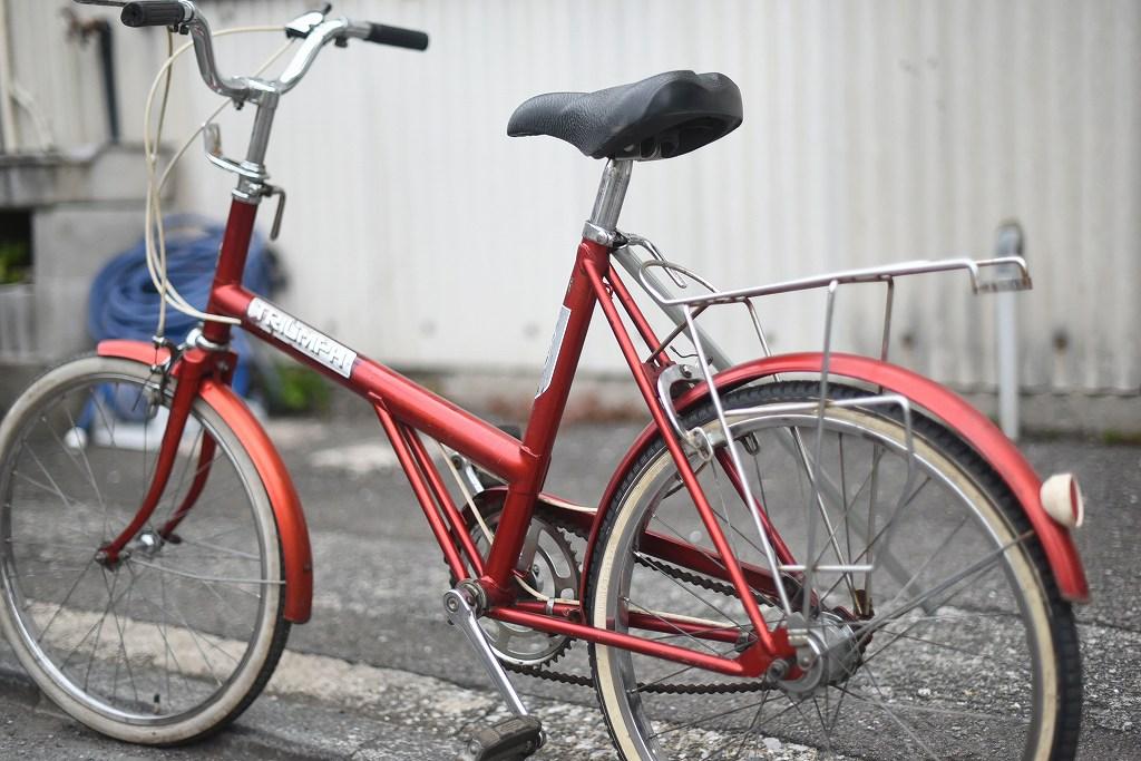 105681 ヴィンテージ 自転車 「TRIUMPH」 トライアンフ  「TRAFFIC MASTER」 1978年製  英国製 MADE IN ENGLAND