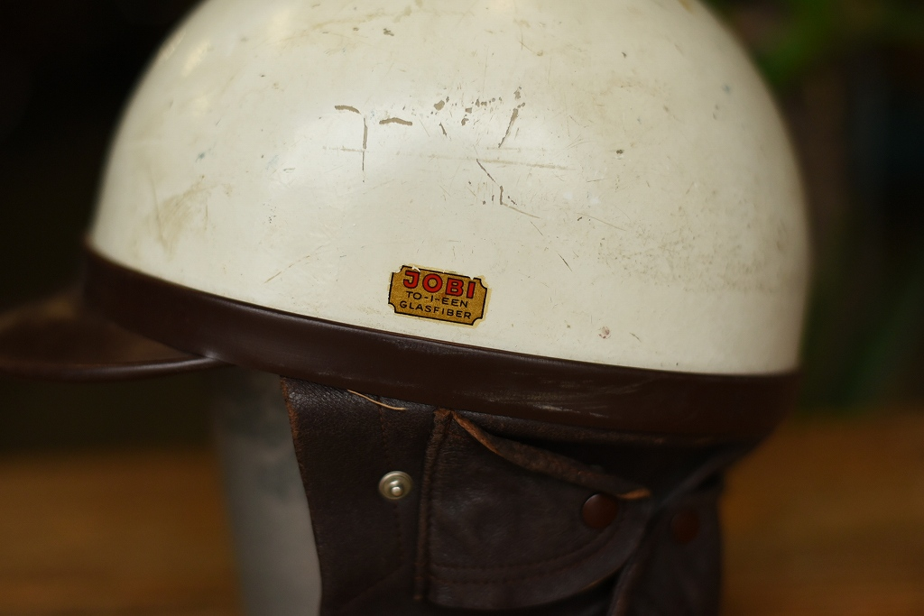 103788 「JOBI」 ヴィンテージ ハーフヘルメット お椀ヘルUK MADE in ENGLAND ヘルメット