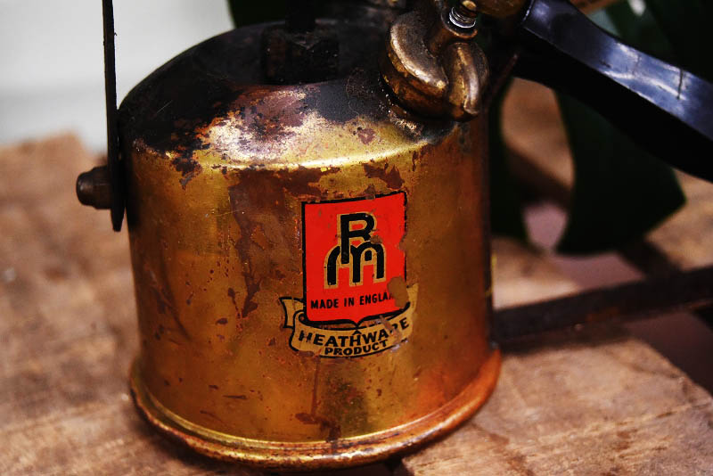 105293 「HEATHWARE PRODUCT」 MADE IN ENGLAND ブラス トーチ バーナー ブロートーチ コンロ キャンプ 真鍮