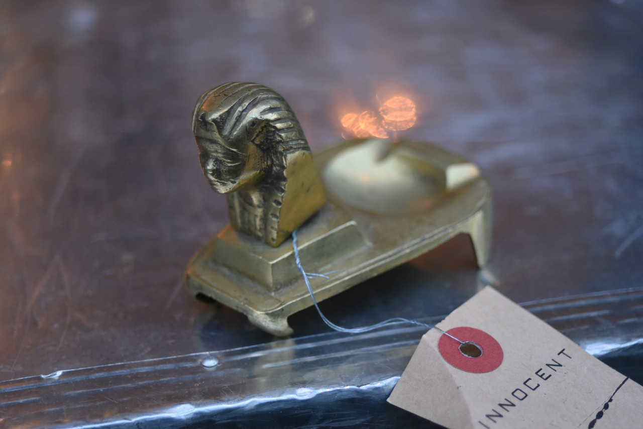 真鍮 ブラス スフィンクス型鋳造 英国 101172