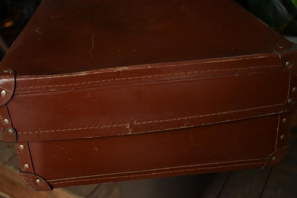 100554 UK ヴィンテージ 「VANGUARD」 トランクケース 革鞄
