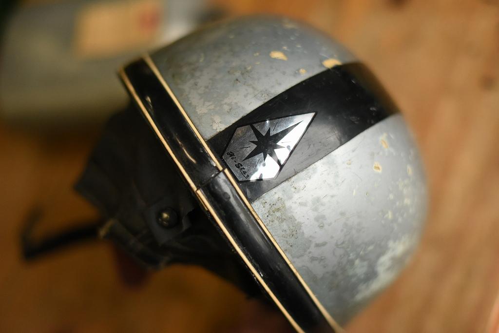 103796 「STADIUM スタジアム」 ヴィンテージ ハーフヘルメット お椀ヘルUK MADE in ENGLAND ヘルメット
