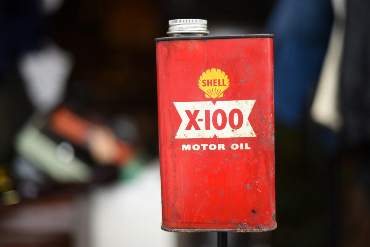 SHELL X-100 MOTOR OIL オイル缶 102004