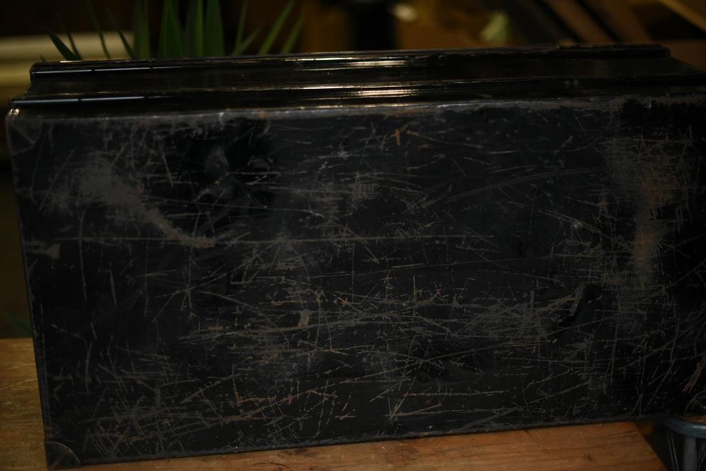 103695 ヴィンテージ トランクケース 大型アイアンケース 革鞄 英国製