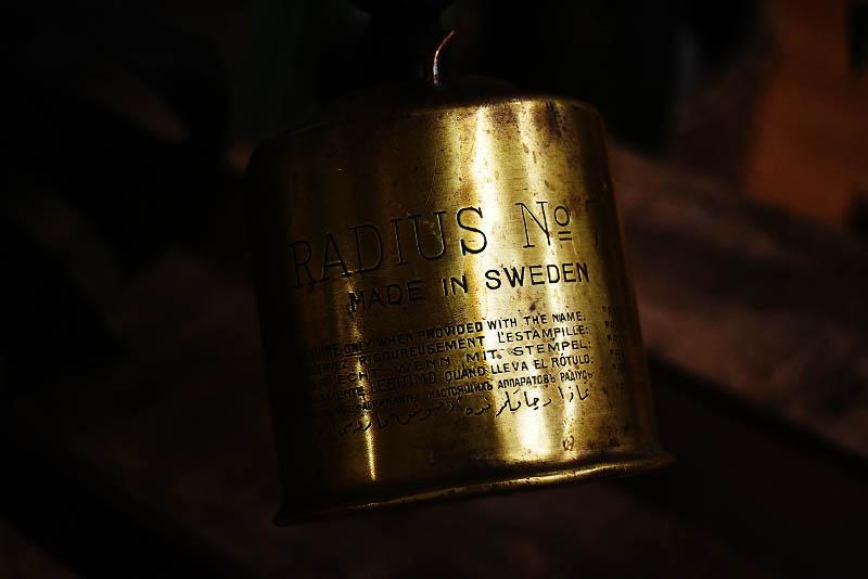105279 「RADIUS」 No.71 ブラス トーチ バーナー ブロートーチ コンロ キャンプ 真鍮 MADE IN SWEDEN