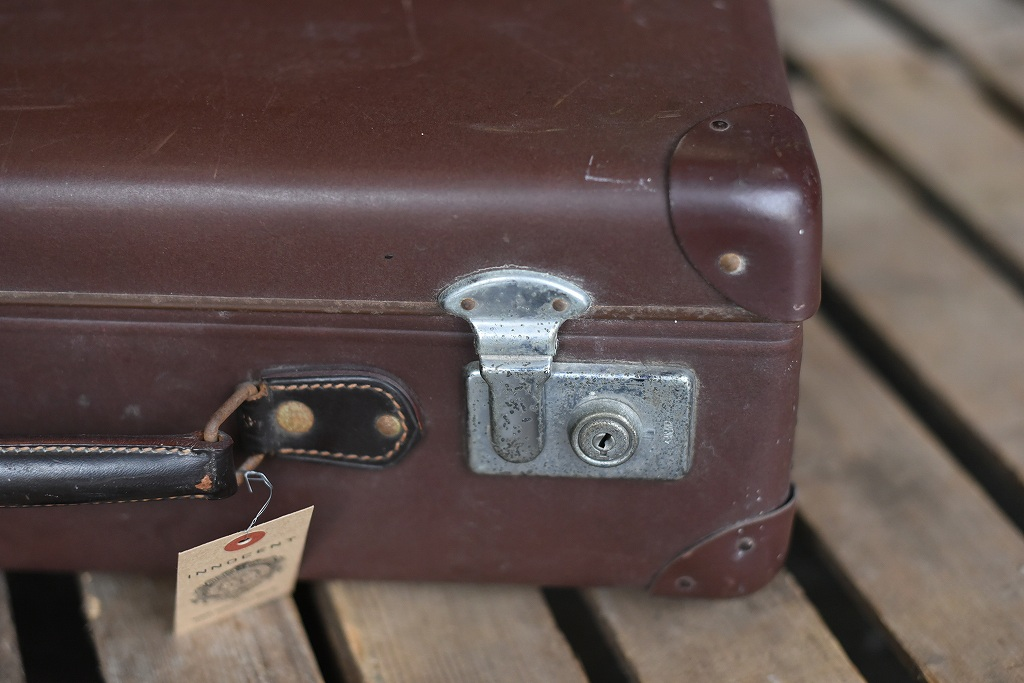 105693 UK ヴィンテージ 英国 グローブ トロッター 「GLOBE TROTTER」 MADE IN ENGLAND 刻印