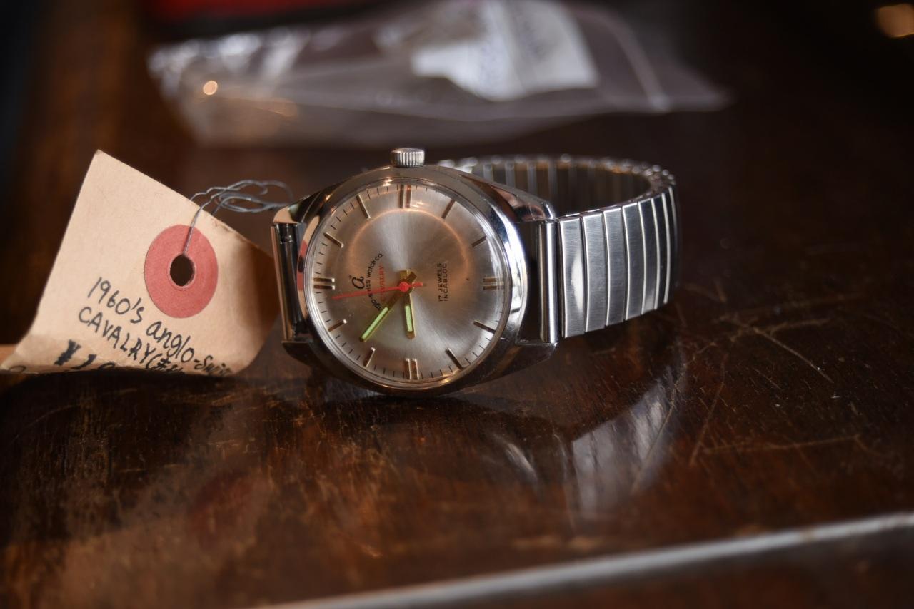 100597 anglo-swiss 腕時計 CAVALRY 推定1960年代