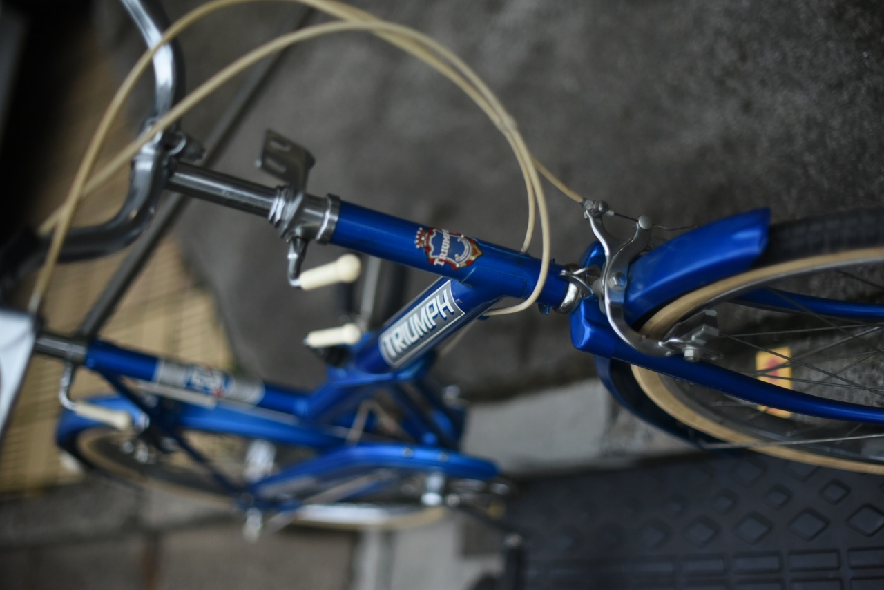 102104 ヴィンテージ 自転車 「TRIUMPH」トライアンフ 「TRAFFIC MASTER」 MADE IN ENGLAND