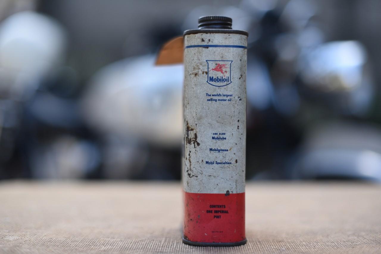 ヴィンテージ Mobiloil オイル缶 101087