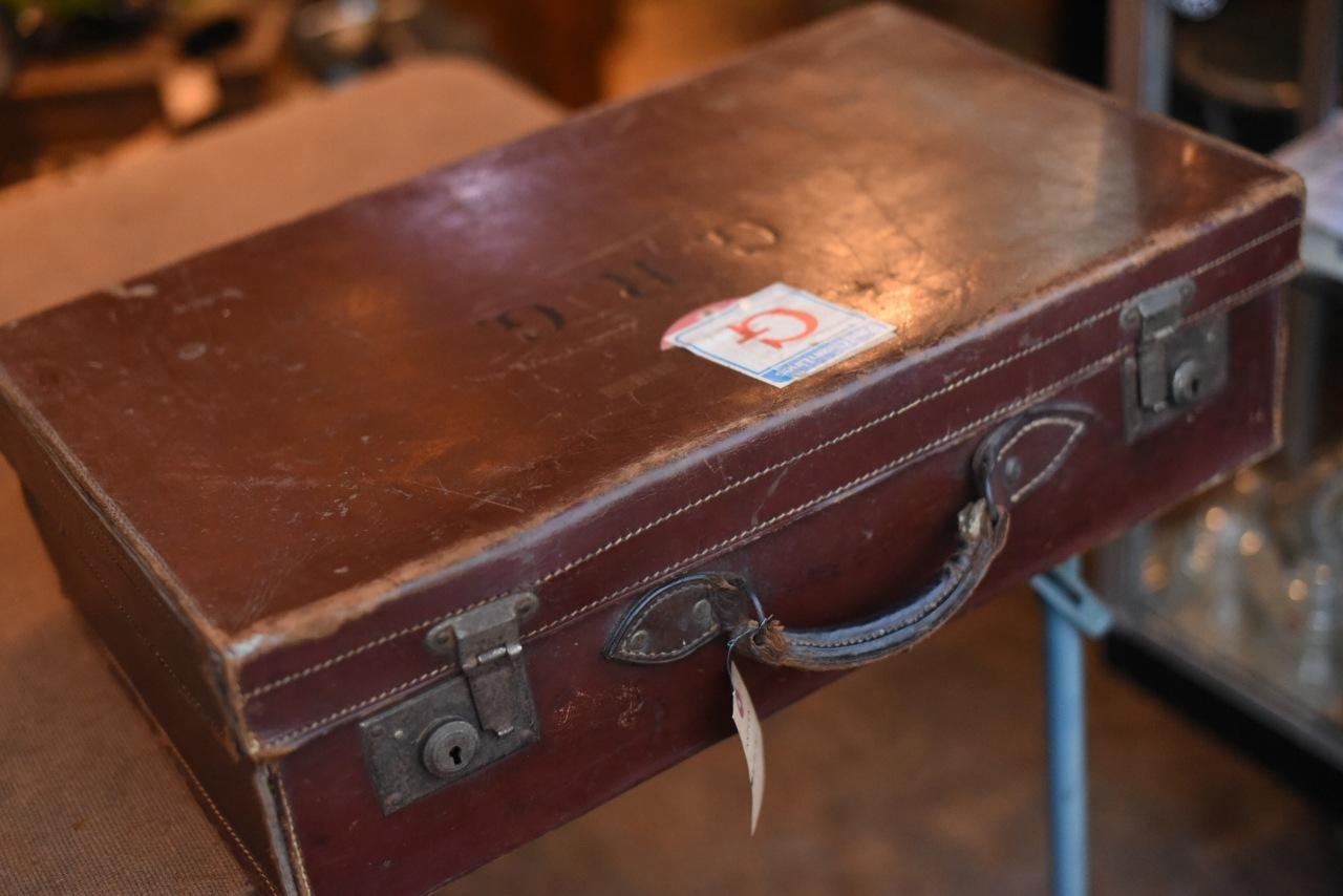 102741 UK ヴィンテージ トランクケース 革鞄