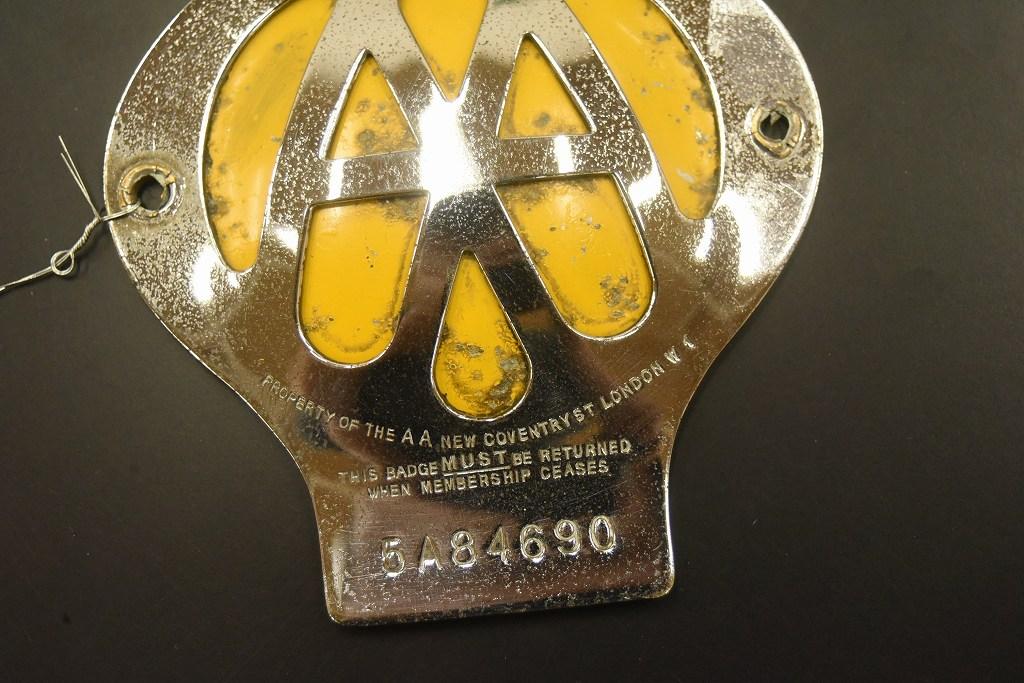104615 ヴィンテージ AA 「Automobile Association」 カーバッチ エンブレム